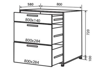 Тумба кухонная 720-800