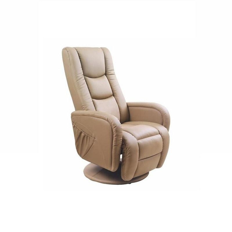 Бежевое кресло релакс