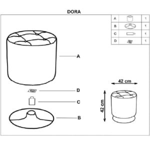 Сборка пуфика Dora