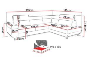 Размеры дивана Antrodem