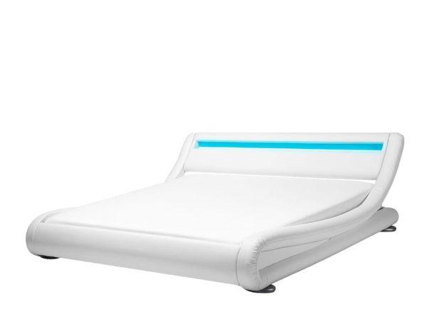 Белая кровать подсветка