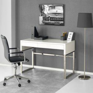 Компьютерный стол с белым глянцем