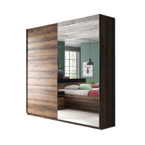 Двухдверный шкаф купе с зеркалом