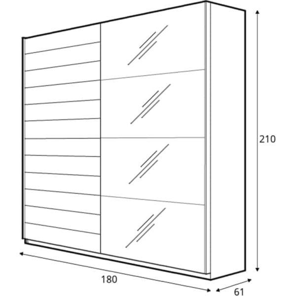 размеры шкафа beta180