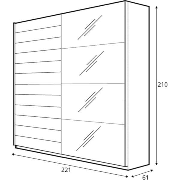 размеры шкафа beta210