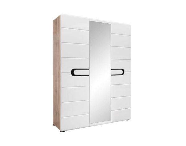 Белый трёхстворчатый шкаф