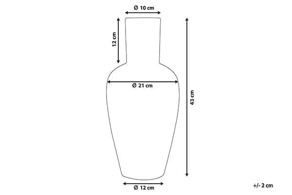 Размеры вазы Callatis
