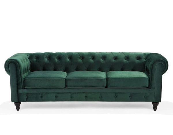 Зелёный диван Честер