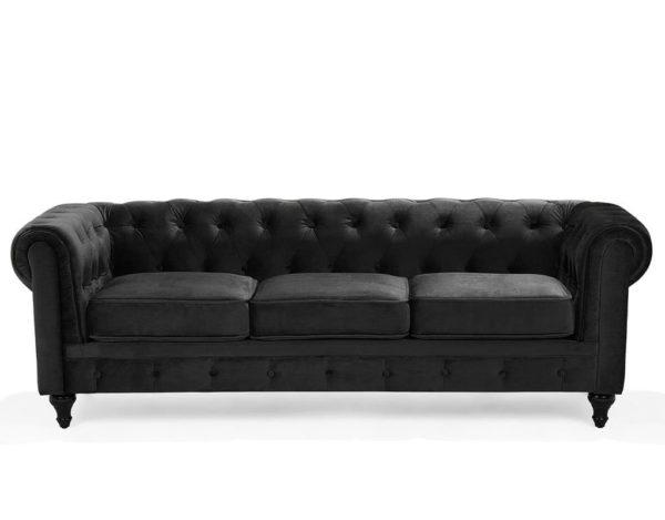 Черный диван Честер