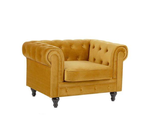 Желтое кресло Честер