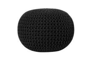 Черный круглый пуф