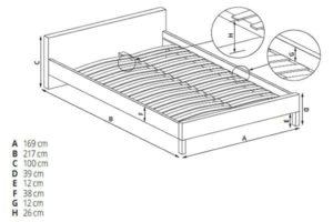 Размеры кровати Doris