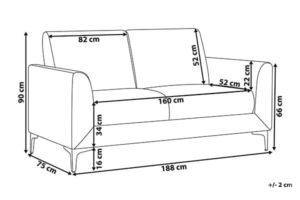 Размеры дивана Fenes