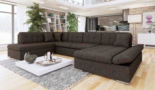 Коричневый диван genero