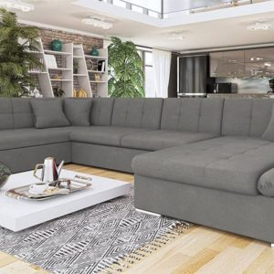 Серый диван genero