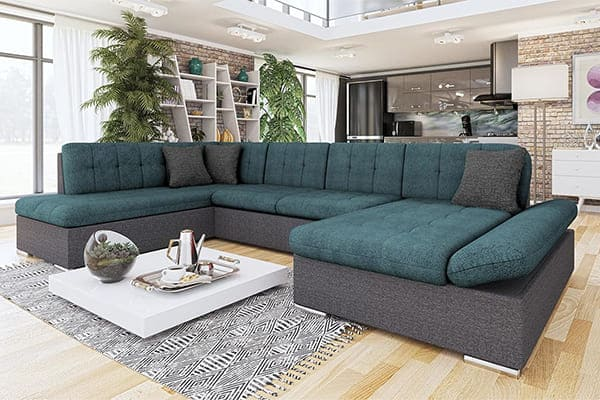Серо-зелёный диван Genero