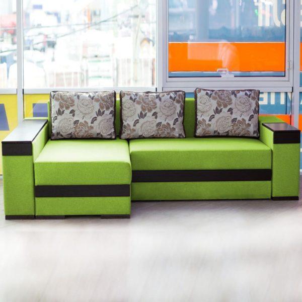Зелёный диван golandec