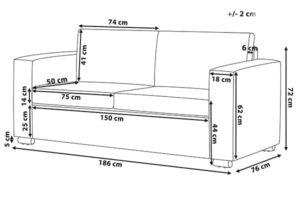 Размеры дивана Helsinki