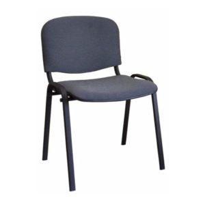 Мягкий стул офисный серый