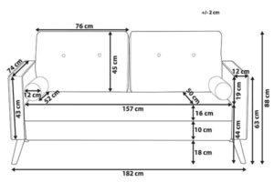 Размеры дивана Kalmar