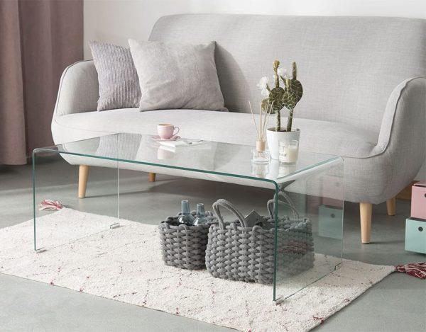 Стеклянный стол интерьер