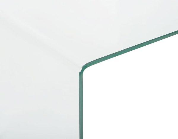 Гнутый стеклянный стол