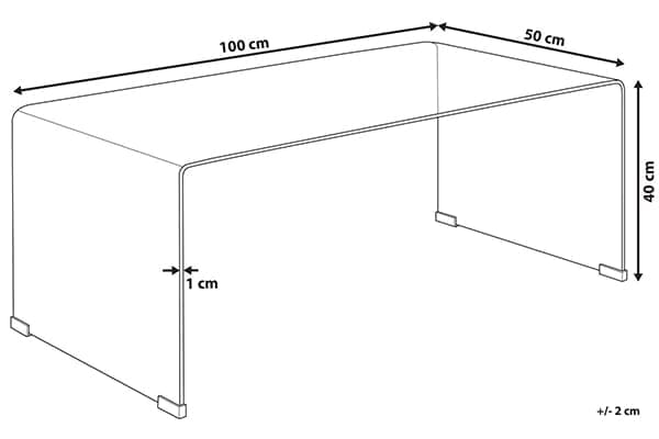 Размеры стеклянного столика