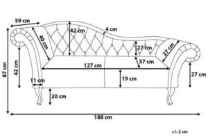 Размеры кушетки Lattes