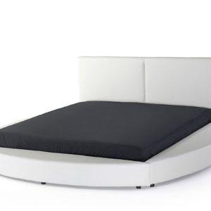 Круглая кровать белая