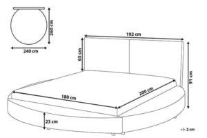 Размеры кровати laval