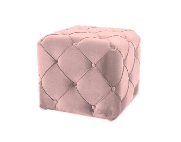 Розовый пуф квадратный