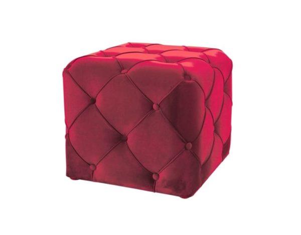 Красный квадратный пуф