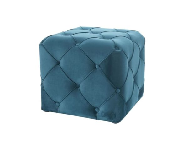 Синий пуф квадратный