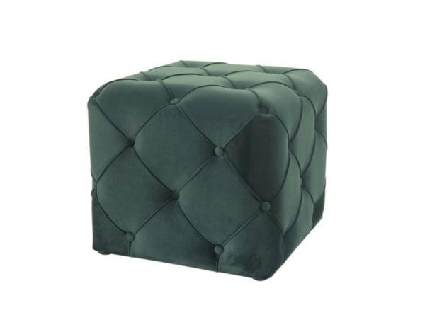 Зелёный квадратный пуф
