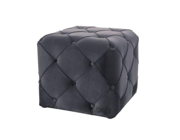 Чёрный квадратный пуф