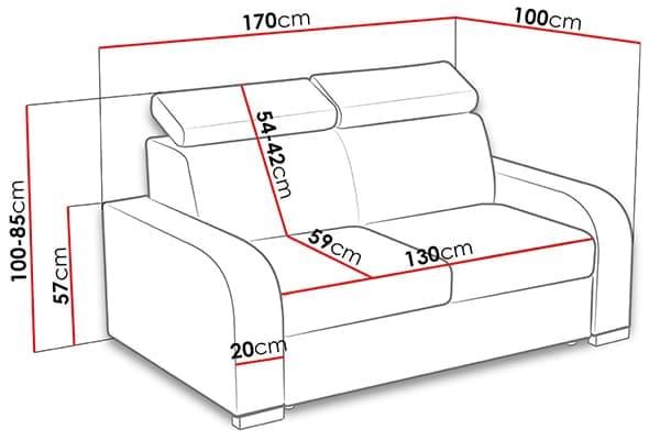 Размеры дивана losar