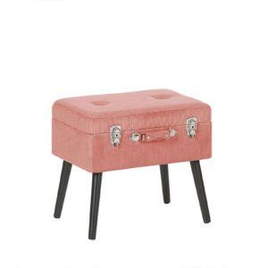 Розовый чемодан стул