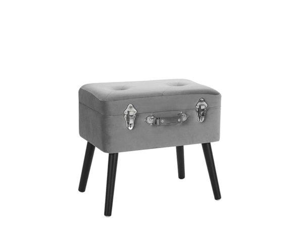 Серый чемодан-стул