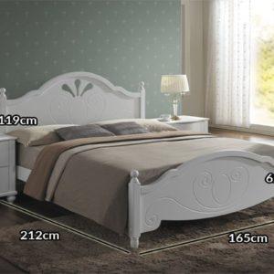 Белая кровать Malta