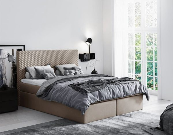 Бежевая кровать Malva