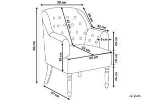 Размеры кресла Mandal