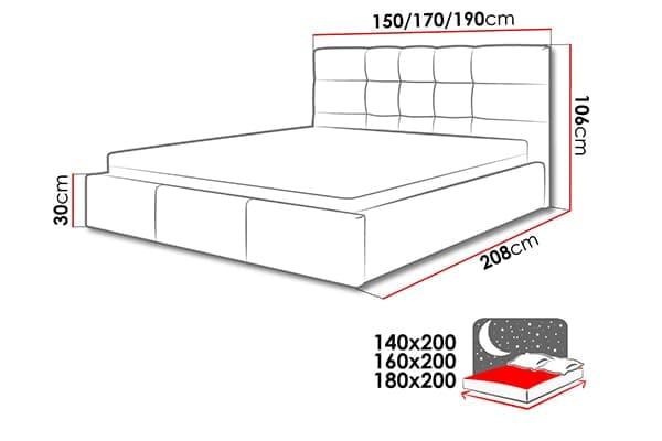 Размеры кровати Minti