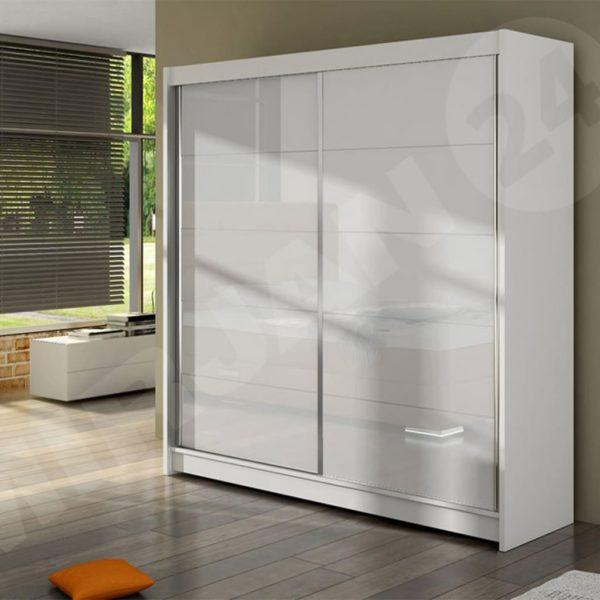 Белый шкаф лакобель Nalo