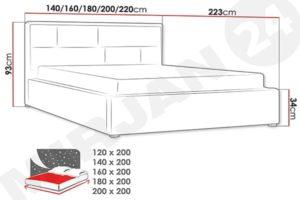 Размеры кровати Nido