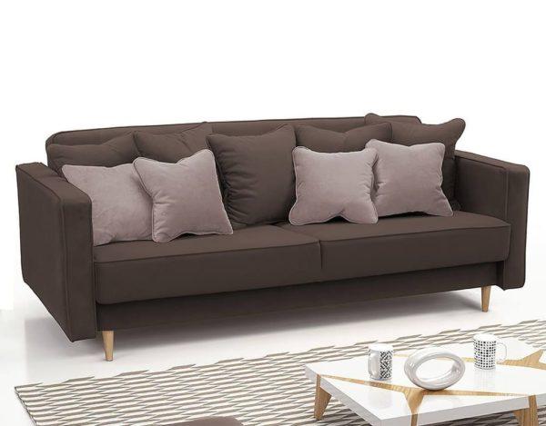 Коричневый скандинавский диван