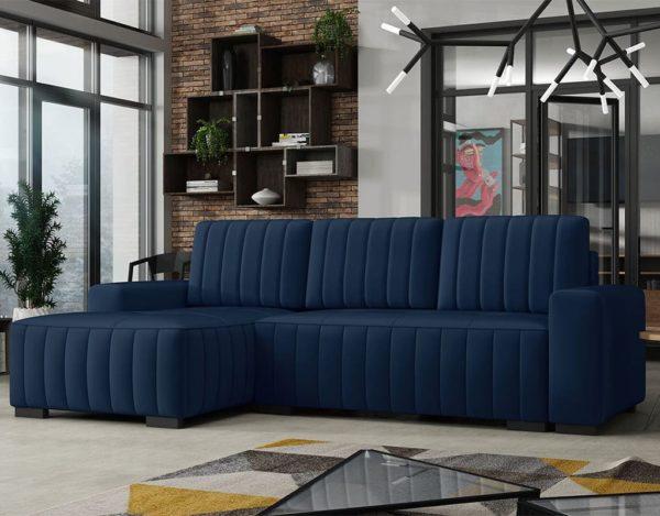 Синий диван Pulah