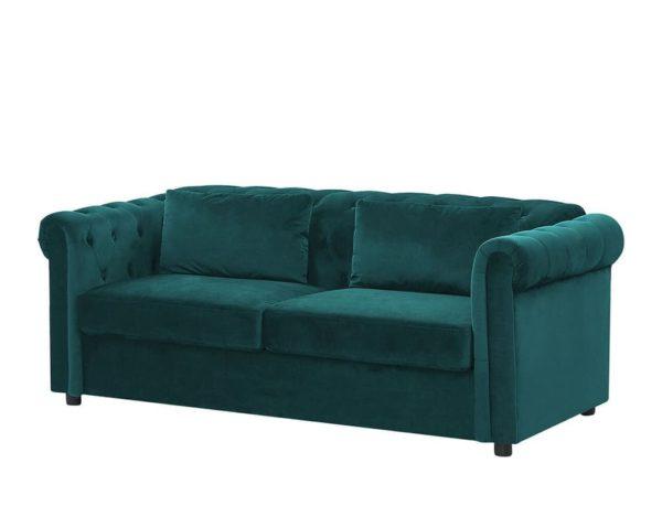 Зелёный диван Chesterfild