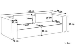 Размеры дивана Rauma