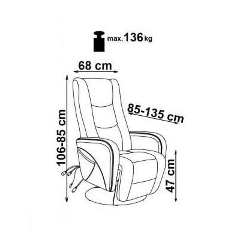 Габариты кресла Pulsar1
