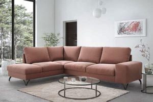 Современный угловой диван в зал